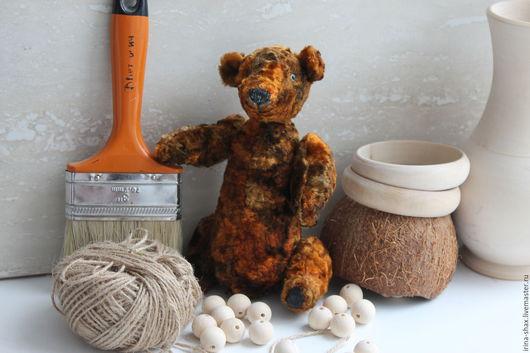 Мишки Тедди ручной работы. Ярмарка Мастеров - ручная работа. Купить амбарный медведь Михалыч. Handmade. Коричневый, подарок, плюш