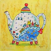 Картины и панно ручной работы. Ярмарка Мастеров - ручная работа Время,пить чай. Handmade.