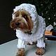 """Одежда для собак, ручной работы. Одежда для собак. Шубка """"Белая овечка"""". Наталья (maya-lora). Ярмарка Мастеров. Йоркширский терьер"""