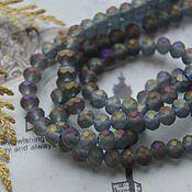 Материалы для творчества handmade. Livemaster - original item Roundels 6 mm Gray-lilac. Handmade.