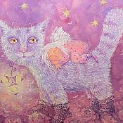 """Картины и панно ручной работы. Ярмарка Мастеров - ручная работа картина"""" розовая баюльная"""". Handmade."""