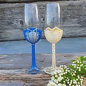 Свадебный салон handmade. Livemaster - original item Mr and Mrs glasses