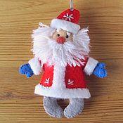 Дед Мороз и Снегурочка ручной работы. Ярмарка Мастеров - ручная работа Дед Мороз - елочная игрушка из фетра, подарок на Новый год 2019. Handmade.