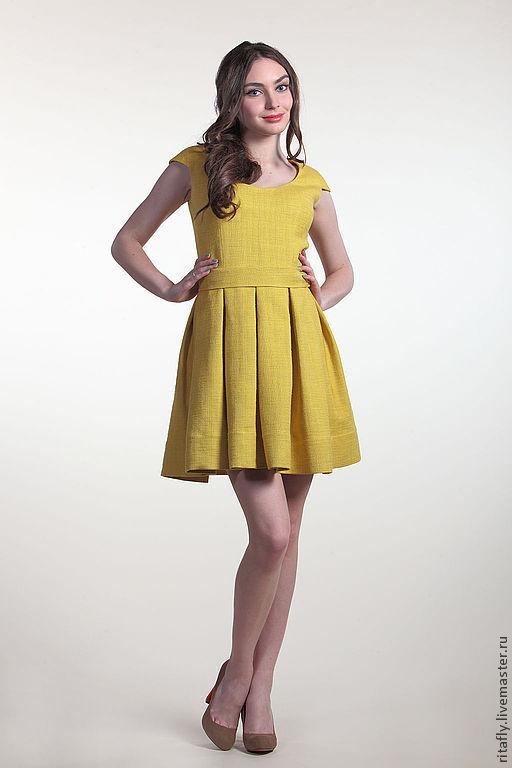 Женские платья желтого цвета