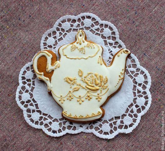 Чайничек с золотой розой