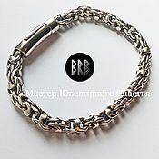 Украшения handmade. Livemaster - original item Bracelet `Bismarck round` sterling silver 925. Handmade.