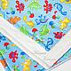 """Детская ручной работы. Детское плюшевое одеяло в коляску или в кроватку """"Дино"""". Ночная Сказка (Лидия). Интернет-магазин Ярмарка Мастеров."""