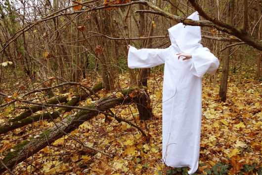 Этническая одежда ручной работы. Ярмарка Мастеров - ручная работа. Купить Мантия ритуальная, магическая  белая (хлопок). Handmade. Белый