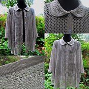 Одежда handmade. Livemaster - original item Poncho: 100% linen Poncho Jacket