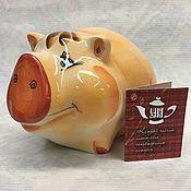 Сувениры и подарки handmade. Livemaster - original item Porcelain piggy bank. Handmade.