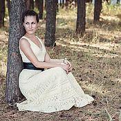 Одежда ручной работы. Ярмарка Мастеров - ручная работа Соломенно-жёлтое платье. Handmade.