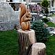 садовая скульптура из бетона.