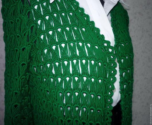 Кофты и свитера ручной работы. Ярмарка Мастеров - ручная работа. Купить Кардиган  GREEN ручной работы. Handmade. Зеленый