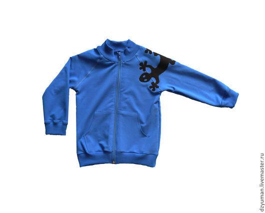 """Одежда для мальчиков, ручной работы. Ярмарка Мастеров - ручная работа. Купить Толстовка для мальчика """"Ящерица"""". Handmade. Рисунок, толстовка, ящерица"""