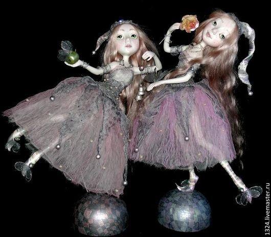 Коллекционные куклы ручной работы. Ярмарка Мастеров - ручная работа. Купить куклы Карамельки розовые полимерная глина. Handmade. фея
