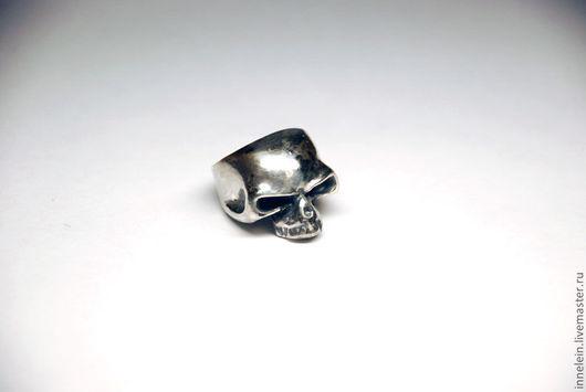 """Кольца ручной работы. Ярмарка Мастеров - ручная работа. Купить Кольцо """"Череп"""". Handmade. Серебряный, кольцо-череп, скелет, байкер"""