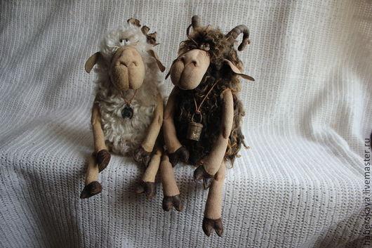 Коллекционные куклы ручной работы. Ярмарка Мастеров - ручная работа. Купить Овца и баран текстильные. Handmade. Хаберская, овца