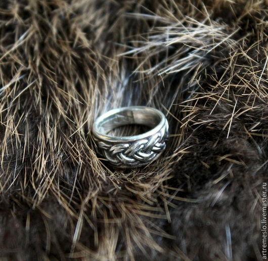 Серебряное кольцо «Северная плетенка» кольцо серебро 925 пробы. Можно приобрести в латуни (300 р.)
