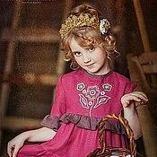 Работы для детей, ручной работы. Ярмарка Мастеров - ручная работа Платье летнее Барышня. Handmade.