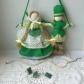Куклы и игрушки ручной работы. Ярмарка Мастеров - ручная работа Неразлучники Зеленая свадьба свадебная кукла. Handmade.