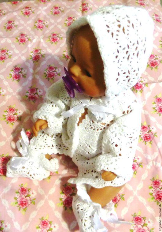 Одежда для девочек, ручной работы. Ярмарка Мастеров - ручная работа. Купить Костюмчик для девочки 0-12 месяцев. Handmade. Белый