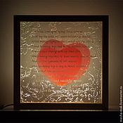 """Подарки к праздникам ручной работы. Ярмарка Мастеров - ручная работа Акцентный светильник """"Любовь растопит лед"""". Handmade."""