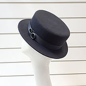 Аксессуары handmade. Livemaster - original item Hat Boater. Color graphite. Handmade.