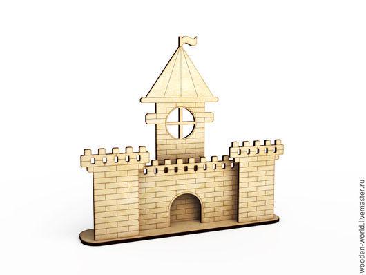 Кукольный театр ручной работы. Ярмарка Мастеров - ручная работа. Купить Замок на подставке. Handmade. Замок, Декупаж, домик