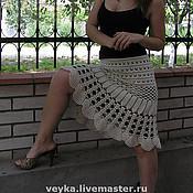 Одежда handmade. Livemaster - original item Crocheted boho skirt