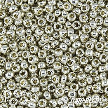 Materials for creativity handmade. Livemaster - original item 10gr seed Beads Toho 15/0 PF558 aluminium Japanese beads TOHO galvanized. Handmade.