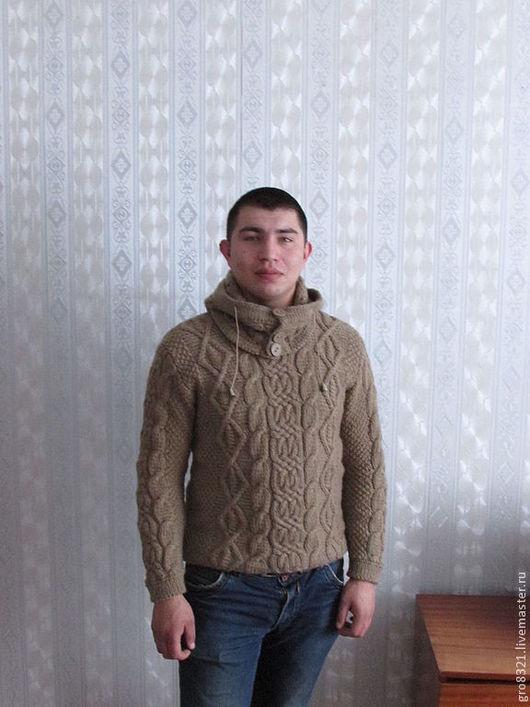 Для мужчин, ручной работы. Ярмарка Мастеров - ручная работа. Купить Мужской пуловер со снудом по мотивам модели от  Dolce&Gabban. Handmade.