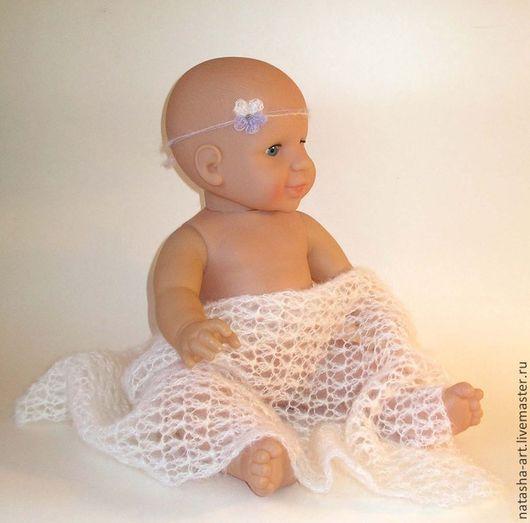 Пледы и одеяла ручной работы. Ярмарка Мастеров - ручная работа. Купить Виолетта - сет для фотосессии новорожденных. Handmade. Белый, для девочки