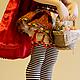 Коллекционные куклы ручной работы. Красная Шапочка. Филатова (Миронова) Елена (mirfild-elen). Ярмарка Мастеров. Подарок, натуральные ткани