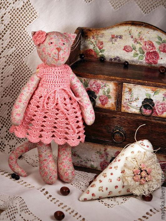 Куклы Тильды ручной работы. Ярмарка Мастеров - ручная работа. Купить Тильда Цветочная кошка. Handmade. Кремовый, цветочная кошка