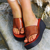 """Обувь ручной работы. Ярмарка Мастеров - ручная работа Кожаные босоножки на платформе """"Simply Beauty"""". Handmade."""