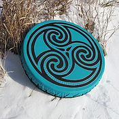 Музыкальные инструменты handmade. Livemaster - original item Triskele. Tambourine Vedic turquoise.. Handmade.