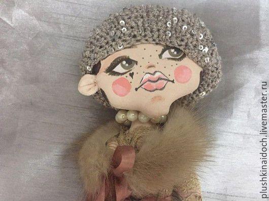 Человечки ручной работы. Ярмарка Мастеров - ручная работа. Купить Lady-кнопка. Handmade. Кукла ручной работы, кнопка