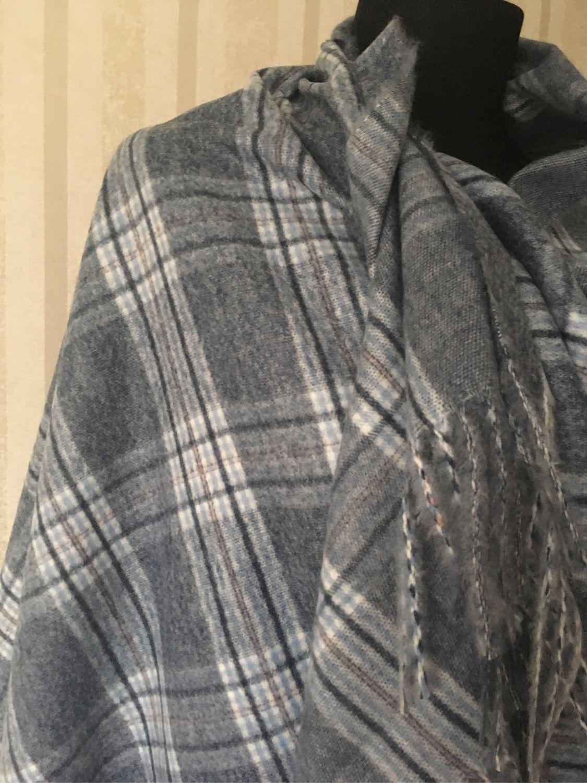1d029bc5763c Олеся. Ярмарка Винтажная одежда и аксессуары. Винтаж  Палантин кашемир серо  -голубой.
