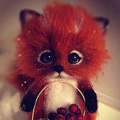 Мягкие игрушки ручной работы. Ярмарка Мастеров - ручная работа Лисенок с корзинкой ягод. Handmade.