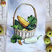 Картины и панно ручной работы. Ярмарка Мастеров - ручная работа Натюрморт с кабачками. Handmade.