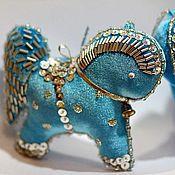 """Подарки к праздникам ручной работы. Ярмарка Мастеров - ручная работа набор елочных игрушек """"лошадки"""". Handmade."""