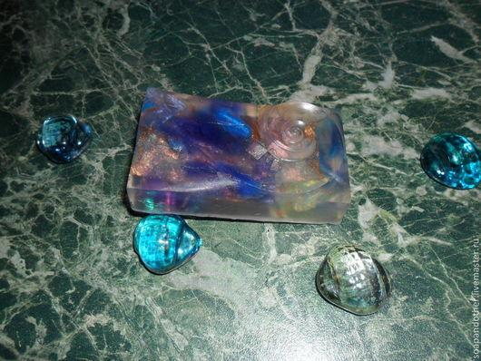 """Мыло ручной работы. Ярмарка Мастеров - ручная работа. Купить Мыло """"Синее стекло"""". Handmade. Синий, абстракция, красители"""