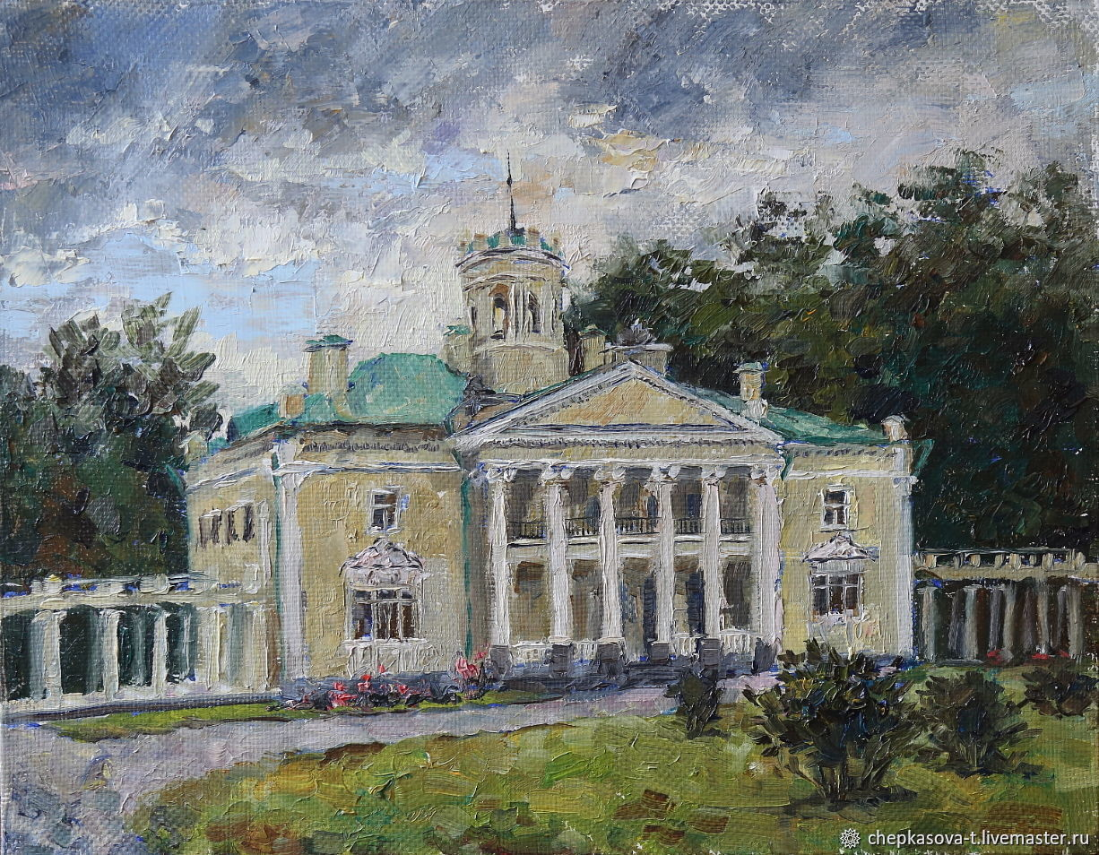 Valuevo Manor. oil on canvas. Painting landscape architecture of the Moscow region, Pictures, Moscow,  Фото №1
