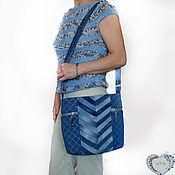 Сумки и аксессуары handmade. Livemaster - original item Women`s Shoulder Bag Denim Patchwork Quilting. Handmade.