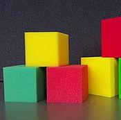 Материалы для творчества ручной работы. Ярмарка Мастеров - ручная работа Кубик поролоновый. Handmade.