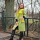"""Пиджаки, жакеты ручной работы. Пальто """"Mosaic in green"""". ElKo (Элла Ковалева). Интернет-магазин Ярмарка Мастеров. Пэчворк"""