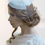 Свадебный салон ручной работы. Ярмарка Мастеров - ручная работа Свадебная шляпка из плиссе с вуалью. Handmade.