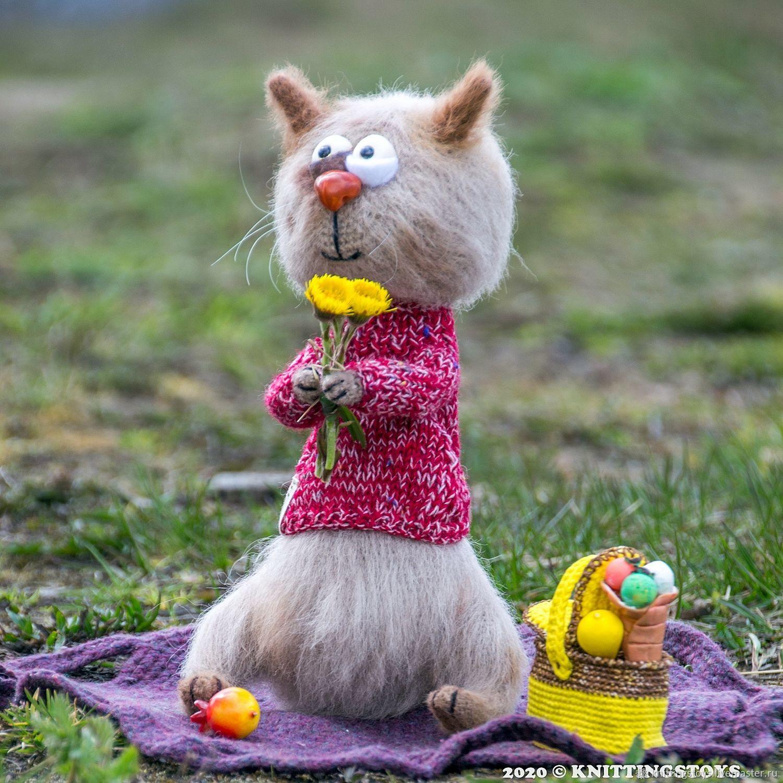 Игрушка крючком: Василиса душевная кошка, Мягкие игрушки, Москва,  Фото №1
