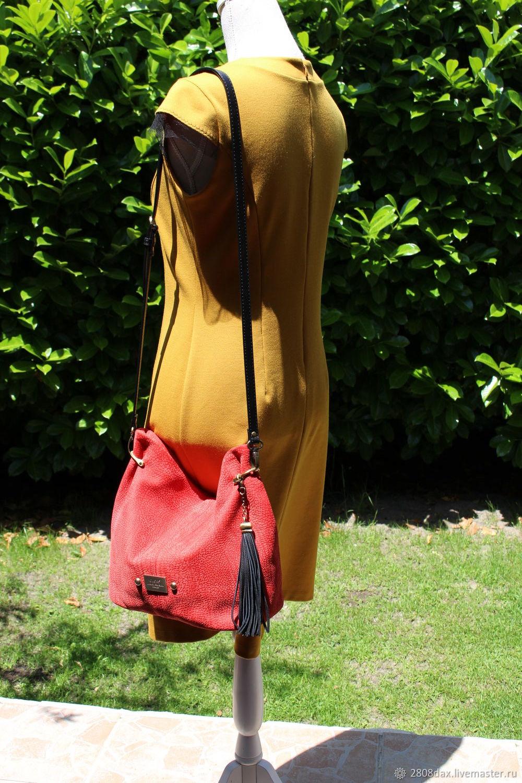 7d111c0d2a37 Красная замшевая сумка, кросс-боди, красное и черное – купить в ...
