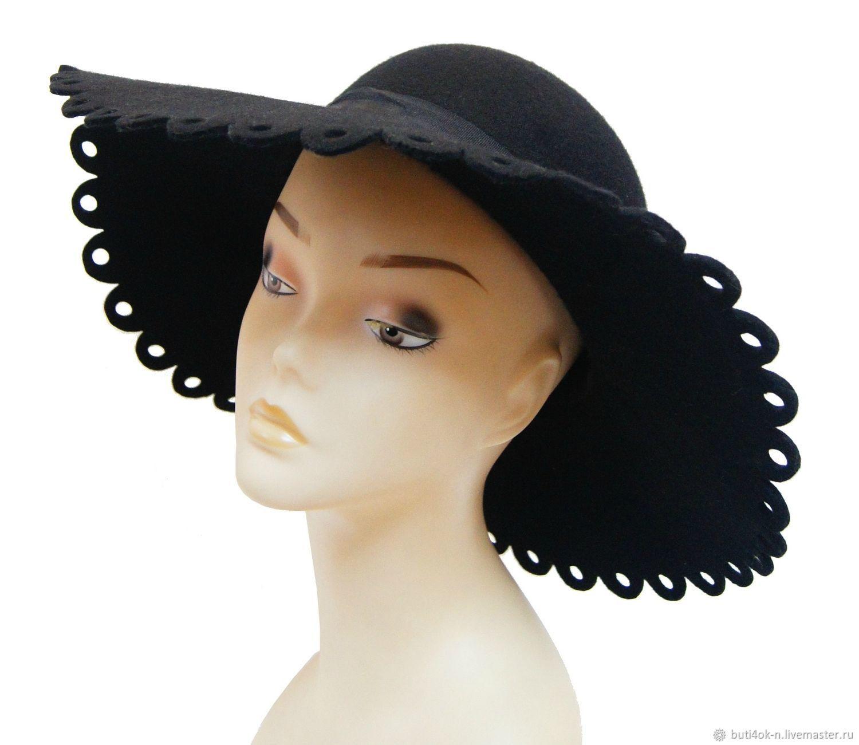 Original wide-brimmed hat. England, Vintage hats, Nelidovo,  Фото №1
